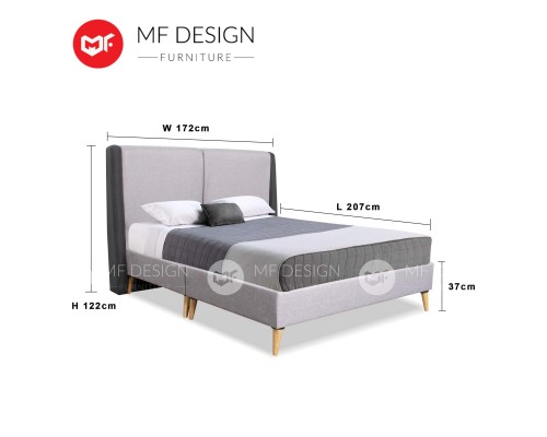 MF DESIGN ASSEMBLY - Spring Mattress HOME PACKAGE 4 ( Queen Bed Frame X 3 , 8 Inch Foam Mattress X 3 , Cronus 2+3 Sofa X 1 , Coffee Table X 1 , 6 Feet Tv Cabinet X 1 , Pillow X 6 )