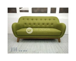 MF DESIGN 3 SEATER LOYIS SOFA ( JATI TEAK WOOD LEG)