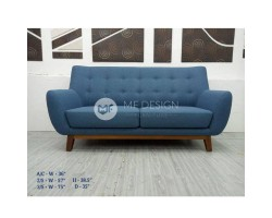 MF DESIGN EDEN 3 SEATER SOFA ( JATI TEAK WOOD LEG)