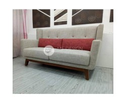 MF DESIGN 3 SEATER RIDEN SOFA ( JATI TEAK WOOD LEG)
