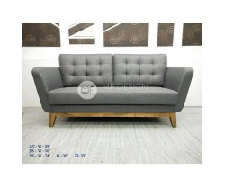 MF DESIGN 3 SEATER YALIS SOFA ( JATI TEAK WOOD LEG)