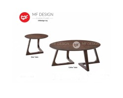 MF DESIGN AIRLA COFFEE TABLE & SIDE TABLE  (2018) (Modern, Brown, Scandinavian, Industrial, Metal, Ikea)