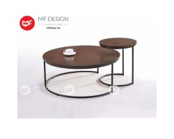 MF DESIGN AIKIA COFFEE TABLE & SIDE TABLE  (2018) (Modern, Brown, Scandinavian, Industrial, Metal, Ikea)