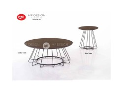 MF DESIGN AIDOS COFFEE TABLE & SIDE TABLE  (2018) (Modern, Brown, Scandinavian, Industrial, Metal, Ikea)