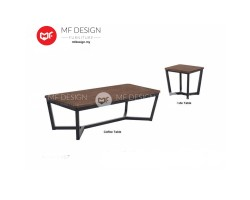 MF DESIGN AGNES COFFEE TABLE & SIDE TABLE  (2018) (Modern, Brown, Scandinavian, Industrial, Metal, Ikea)