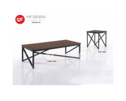 MF DESIGN AGLER COFFEE TABLE & SIDE TABLE  (2018) (Modern, Brown, Scandinavian, Industrial, Metal, Ikea)