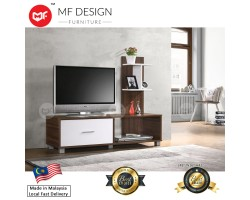 MF DESIGN DALOS TV CABINET (4 FEET) (Modern, Brown, White,Scandinavian, Ikea)(2018)