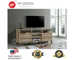MF DESIGN CRAFT WOOD TV CABINET  (Brown)(6 FEET) (Modern, Brown, Scandinavian, Ikea) (2018)