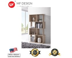 MF DESIGN ADNEY TV Hall Cabinet / Divider / Display / Storage Book Shelf Cabinet (Natural)(2018)
