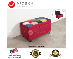 MF DESIGN COLOUR MIX 2 SEATER STOOL WITH STORAGE