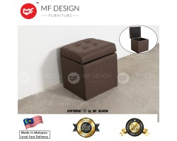 MF DESIGN LIVIN 1 SEATER STOOL WITH HUGE STORAGE (BROWN)