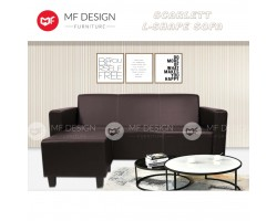 (12.12 PROMOSI PRICE) MF DESIGN SCARLETT L-SHAPE SOFA(BROWN)