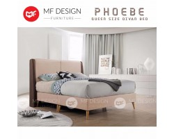 (PROMOSI)MF DESIGN PHOEBE SCANDINAVIAN QUEEN SIZE Divan Bed Frame (BROWN)