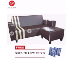 MF DESIGN BOULEVARD L SHAPE SOFA /3 SEATER SOFA (FREE 2 PILLOW)