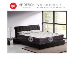 MF DESIGN VS SERIES 3 HIGH QUALITY DAMASK 10 INCH QUEEN SIZE SPRING MATTRESS