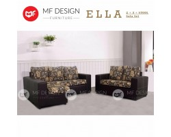 MF DESIGN ELLA 2+3 Fabric Upholdstery Sofa Set L-SHAPE SOFA  FREE STOOL (Floral)