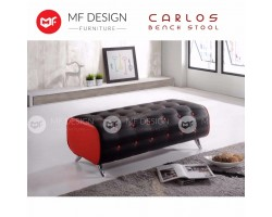 MF DESIGN CARLOS BENCH STOOL /CHAIR /SOFA / (RED &BLACK)