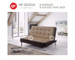 (HOT SELLING CNY LIMITED 20UNIT) MF DESIGN RAYMOND SOFA BED 2 SEATER SOFA (BROWN)