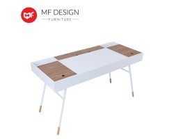 MF DESIGN Norse Study Table - White, Oak