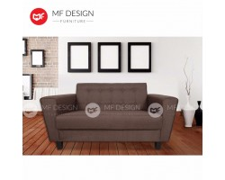 MF DESIGN Ascont 2 Seater Fabric Upholdstery Sofa (Brown)