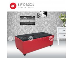 MF DESIGN DAMI BENCH STOOL /CHAIR /SOFA /(RED&BLACK)