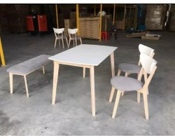 MF DESIGN AMYCUS (1+4) DINING SET WITH BENCH