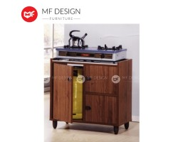 MF DESIGN Kitchen Gas Cabinet - Marble Top [Hollow MDF Board]