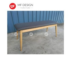 MF DESIGN Borato Bench Chair - Full Solid Rubber Wood (Scandinavian Style)