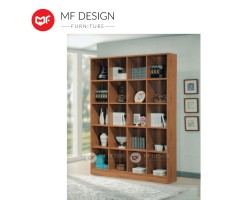 MF DESIGN Champ Bookcase (20 Grids) - Hot Selling [Hollow MDF Board]