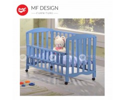 MF DESIGN CANDY BABY COT/Kids Bed(BLUE) (TEAU9098)