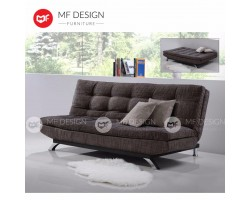 MF DESIGN NEW ZEALAND 3 Seater Fabric Sofa Bed (Soft) (BROWN)(EPE Cotton Inner Pearl Cotton???