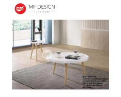 MF DESIGN STACY ROUND TABLE (WHITE)
