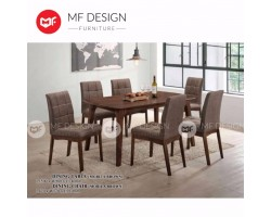 MF DESIGN MATTHEW DINING TABLE WITH 6 CHAIR DINING CHAIR DINING SET 1+6