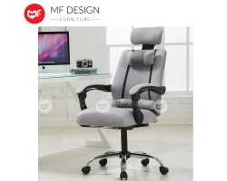 MF DESIGN Monza Ergonomic Style Function Adjustable Reclineable Executive Office Chair Black White