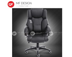 MF DESIGN Massage Function Office Chairs Pu Leather Executive High Back Recliner Computer Desk Swivel