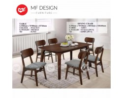 MF DESIGN MICHEE DINING TABLE WITH 6 CHAIR DINING CHAIR DINING SET 1+6