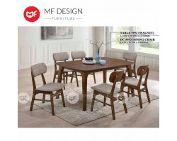 MF DESIGN DAMAS DINING TABLE WITH 6 CHAIR DINING CHAIR DINING SET 1+6