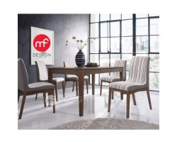 MF DESIGN ADELE DINING TABLE WITH 6 CHAIR DINING CHAIR DINING SET 1+6