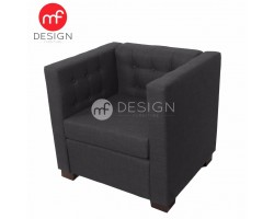 MF DESIGN NEW ZEALAND HOTEL CHAIR 1 SEATER SOFA (1PC CHAIR ONLY) (Grey)