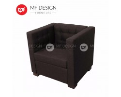 MF DESIGN NEW ZEALAND HOTEL CHAIR 1 SEATER SOFA( 1PC CHAIR ONLY) (BROWN)