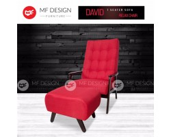 MF DESIGN DAVID 1 SEATER SOFA RELAX CHAIR(RED)