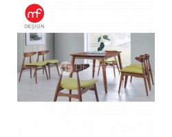 MF DESIGN TROY DINING TABLE WITH 6 CHAIR DINING CHAIR DINING SET 1+6