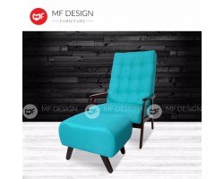 MF DESIGN DAVID 1 SEATER SOFA RELAX CHAIR(LIGHT BLUE)