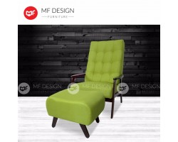 MF DESIGN DAVID 1 SEATER SOFA RELAX CHAIR(GREEN)