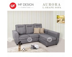 MF DESIGN AURORA L-SHAPE Fabric Modern Sofa /3 SEATER (Grey)