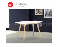 MF DESIGN JOSHUA 120CM METER TABLE(NATURAL/WHITE)
