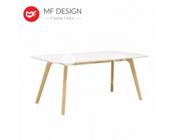 VITALL WOODEN TOP DINING TABLE