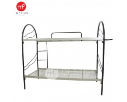 MF DESIGN Metal Double Decker Single Metal Bunk Bed Frame(katil)(IRON) (BLACK)