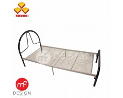 MF DESIGN 3V SINGLE METAL BED FRAME(BLACK)