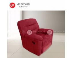 MF DESIGN REED SINGLE SEAT RECLINER CHAIR/SOFA (MAROON)(FARBIC)